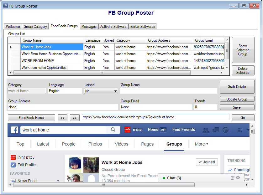 FB Group Poster Software